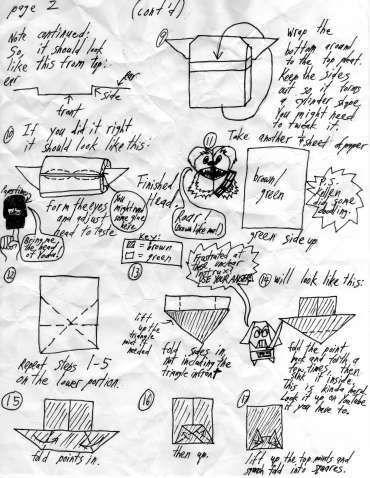 Folding Instructions | OrigamiYoda | 478x370