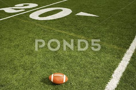 Stock Photograph: American football on the field #57287207