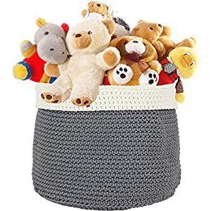 Greenco Storage Basket Baby Nursery Bin Toy Organizer And Storage Baby Basket Bin Greenco Nursery Organizer Storage Toy In 2020 With Images