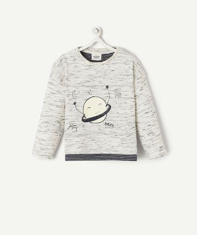 Le t shirt gris chiné phosphorescent | Chemise, T shirt et