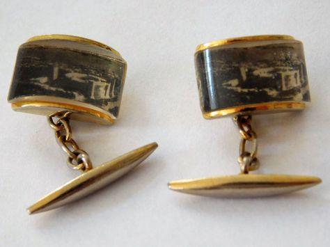 Vintage Cufflinks Presumably Made As A Souvenir Of Palma De