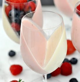 Photo of Strawberry and Cream Panna Cotta Fruit Cups