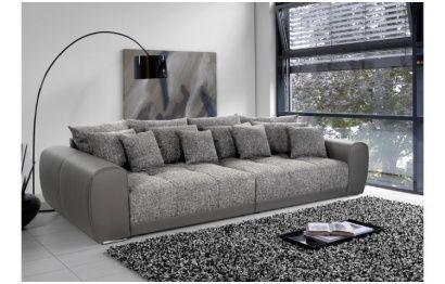 Elegant Kunstleder Couch Braun