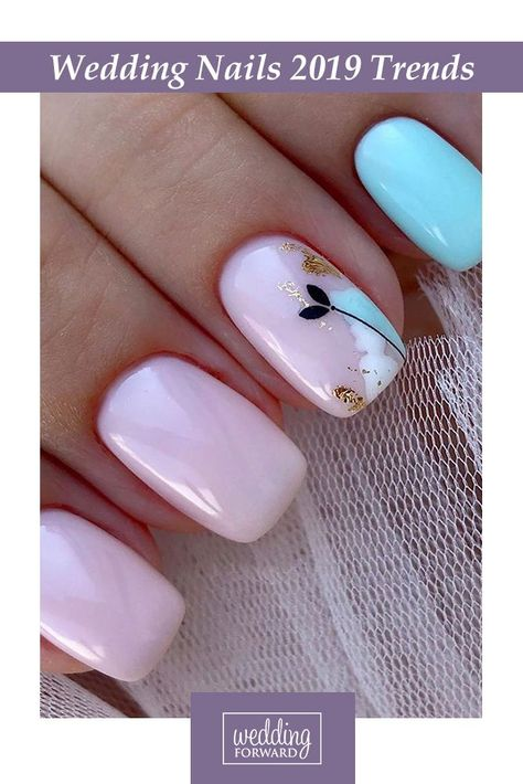 The Best Wedding Nails 2019 Trends ❤ We have collected wedding nails 2019 ideas based on the Instagram trends. In our gallery you will find the most inspiring images to be in trend. ‎#wedding #weddingnails #weddingnails2019