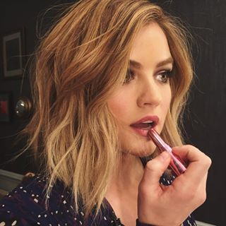 Perfect hair: ALWAYS. | Lucy Hale Dyed Her Hair Blonde And Looks Flawless AF