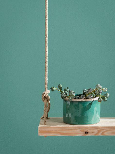 Ruhige Tone Glatt Geburstet Caparol Wandfarbe Farbe Und Lack
