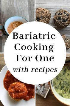 Bariatric Cooking for One with recipes. Great suggestions when cooking solo. #wls #bariatricsurgery #wlsfood #wlsdiet #bariatriceating #bariatricdiet High Protein Bariatric Recipes, Bariatric Eating, Bariatric Surgery, Pureed Food Recipes, Diet Recipes, Healthy Recipes, Healthy Nutrition, Healthy Meals, Easy Recipes
