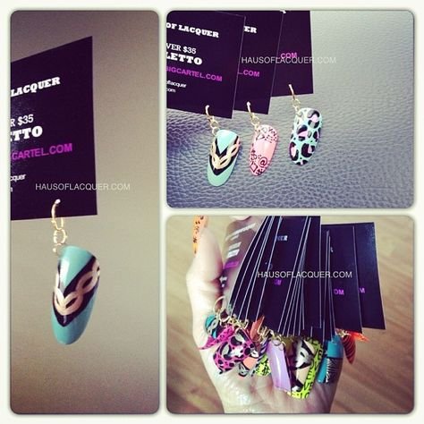 Photo by hausoflacquer..nail salon business cards! Really love this idea! I was gonna do this days ago but I got prego and put nails on hold for a while!