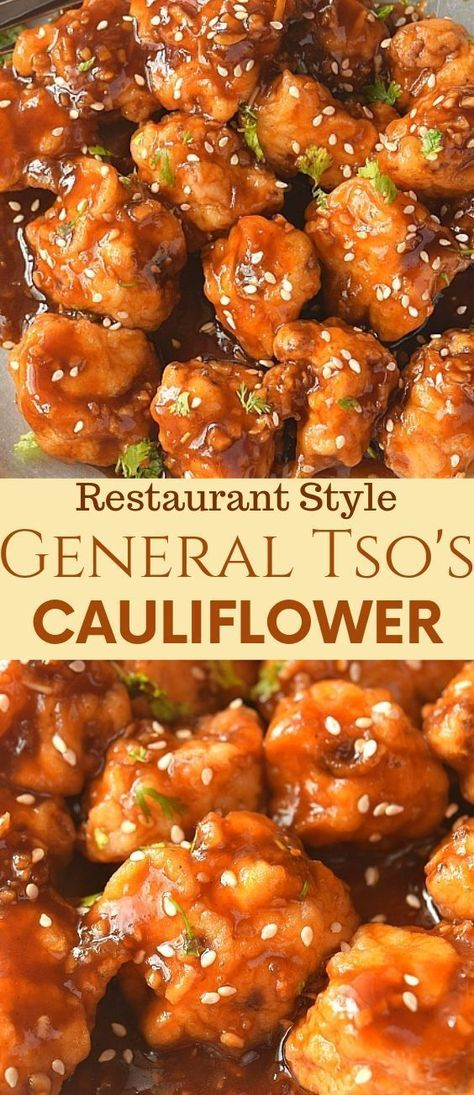 cauliflower recipes #recipes Try this easy and best vegan General Tsos Cauliflower recipe with crispy fried cauliflower tossed in sweet and spicy general tso sauce which makes this dish so delish that you will keep asking for more! #savorybitesrecipes #vegan #generaltsocauliflower #easyrecipe #appetizer #chinesefood #takeout #restaurantstyle #cauliflower