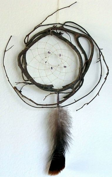 Authentic Cherokee Indian Dream catchers made with Grape Vines #dreamcatchers #a… - Blog'um
