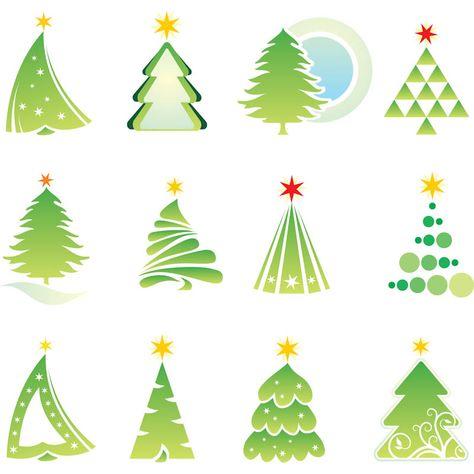 christmas graphic Set of Christmas Trees Vector Graphic Free - free christmas tree templates