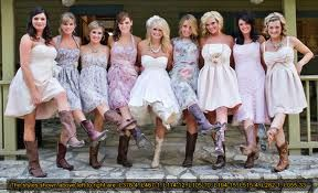 Bridesmaids Dresses With Boots
