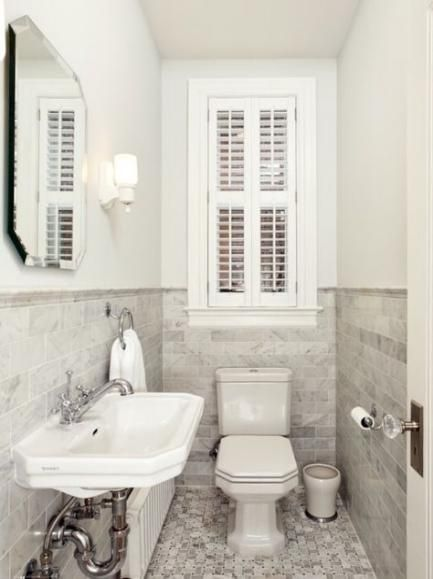 Bath Room Window Over Toilet Small 35 Ideas Tiny Powder Rooms Powder Room Small Tiny Bathrooms