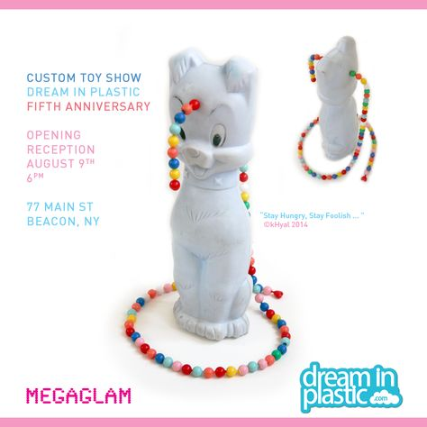 MegaGlam #upcycled #custom #toy for Dream in Plastic's 5th Anniversary Custom Toy Show in Beacon, NY | ©kHyal 2014 MegaGlam.com