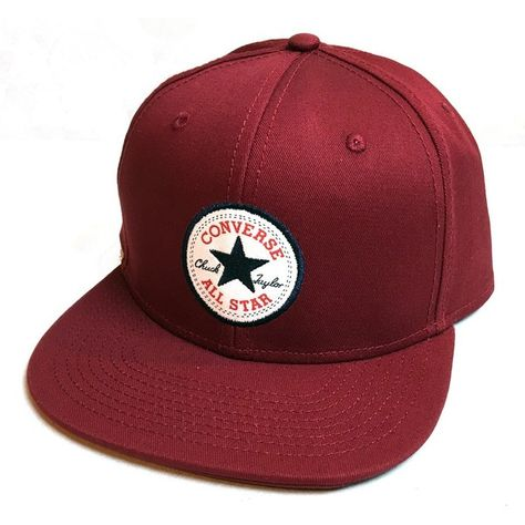 Converse Core Snapback Cap Back Alley Brick Red ❤ liked on Polyvore featuring accessories, hats, converse hat, snap back cap, caps hats, snapback cap and cap snapback