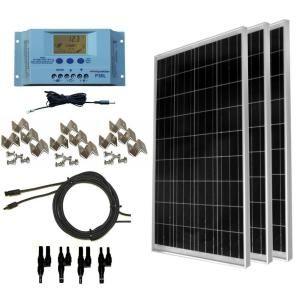 Windynation 300 Watt Off Grid Polycrstalline Solar Panel Kit Sok 300wp P30l The Home Depot In 2020 Solar Energy Panels Off Grid Solar Panels Solar Panels