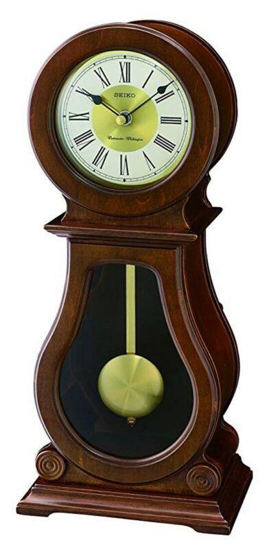 Seiko Wooden Mantel Clock With Westminster Whittington Chimes Qxq035b New In 2020 Chiming Wall Clocks Pendulum Clock Wall Clock