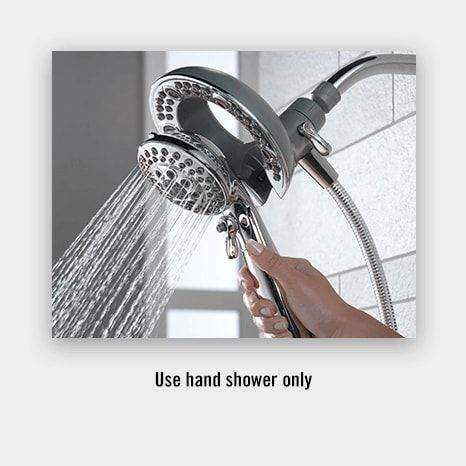 Combination Shower Head And Hand Shower In2ition Two In One