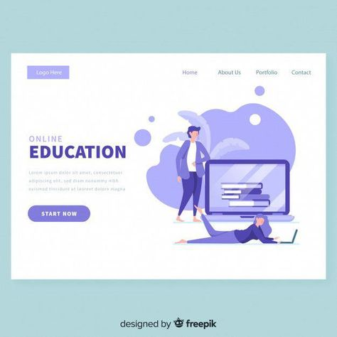 Download Online Education Landing Page Template for free
