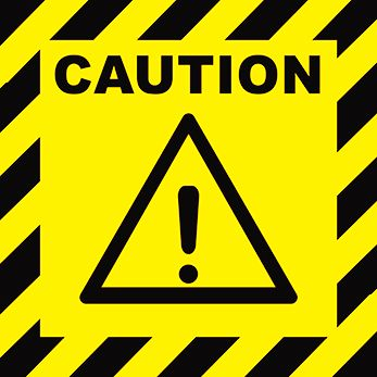 ATTENTION, DANGER, CAUTION Warning, Danger vector sign. CAUTION ...