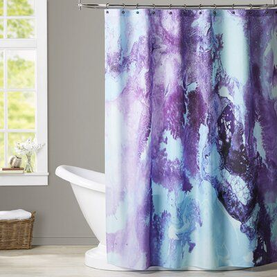 Pin By Samantha Goodwin On Home Improvement In 2020 Purple Shower Curtain Shower Curtain Black Shower Curtains
