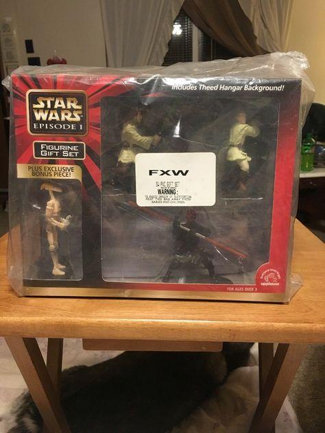 Qui-Gon Jinn /& Obi-Wan NOS STAR WARS Episode 1 Figurine Gift Set Darth Maul