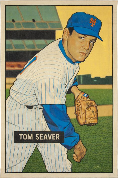 2016 Tom Seaver 1951 Bowman Card That Never Was Aartwork