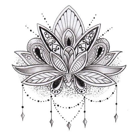 Temporäre Lotusblume Tattoo
