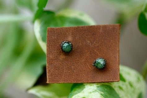 Stainless Steel Gold Color Plated Bezel-Set Circle Flower Stud Earrings with Aquamarine Glass Stone pair