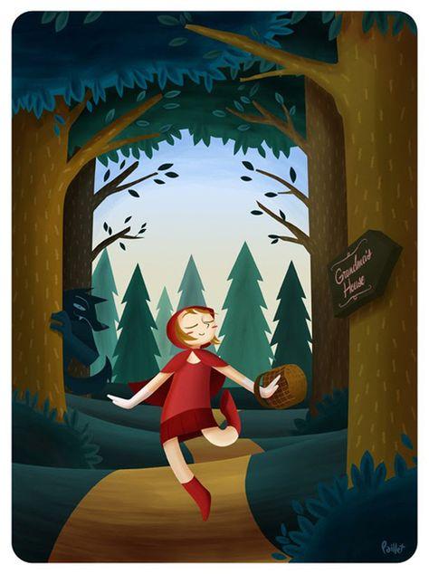 Le petit chaperon rouge par Agustin Paillet
