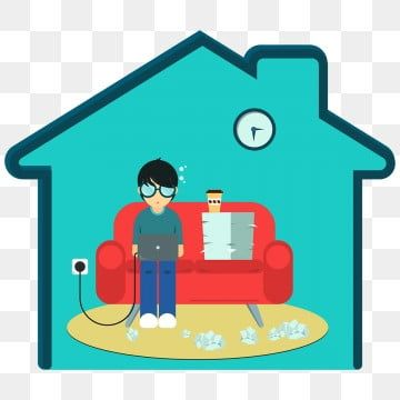 Work From Home Male Version Png Graphics Illustration Png And Vector With Transparent Background For Free Download In 2020 Backdrops Backgrounds Cartoon Styles Free Vector Graphics