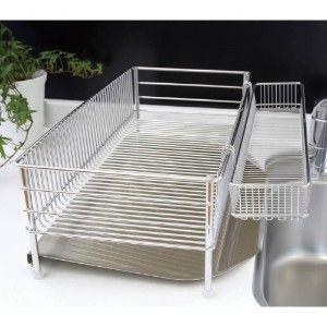 誰でも簡単に作れるアルミフレームdiy キッチンで使う水切りカゴをシンクの上に置く 設置台をアルミフレームで作りました アルミは錆びないので水にぬれても大丈夫 水切りカゴを移したことでキッチンが広くなり 料理がしやすくなりますよ シンク 狭い