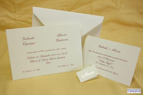 Foto Partecipazioni Matrimonio.Partecipazioni Matrimonio Millerighe Di Colore Avorio 16 8 X 11