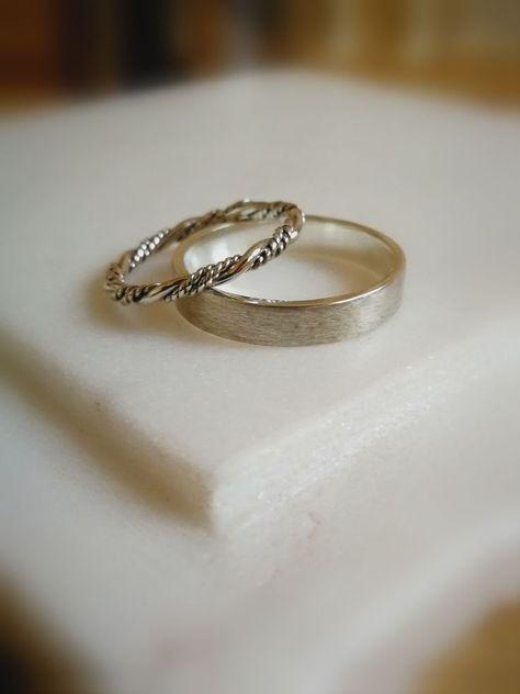 Wedding Ring Set Wedding Band Set Bridal Rings Set Viking Wedding
