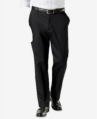 Dockers Mens Casual Pants 56 x 32 Black Pleated Cotton Polyester Spandex NEW
