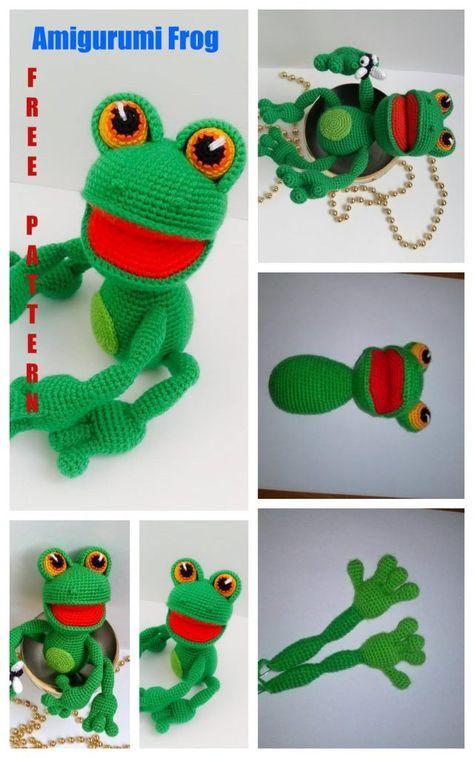 CROCHET FROG PATTERN FREE | FREE PATTERNS | Crochet frog, Crochet ... | 758x474