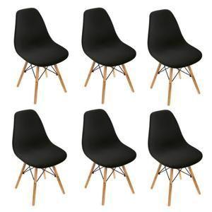Tempsa Lot De 6 Chaises Design Scandinave Noir En 2020 Chaise Design Chaise Fauteuil Pouf
