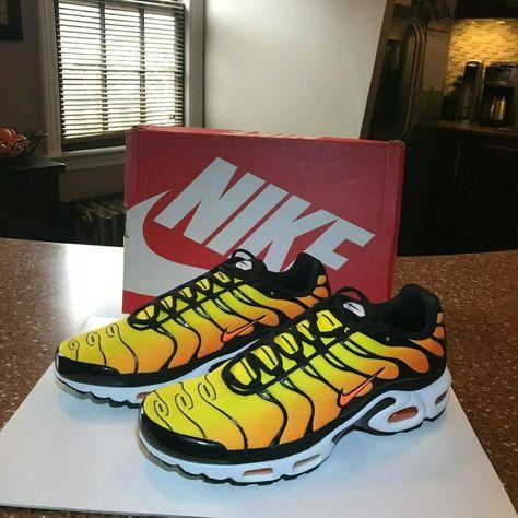 Nike Air Max Plus TXT TN 2014 Sunset Retro Tour Yellow Shoes