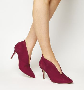Office Mojo Shoe Boots Red Suede - Mid