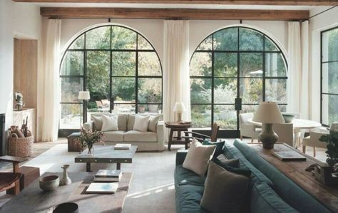 Top Interior Designers Spanish Style Homes Living Room Windows