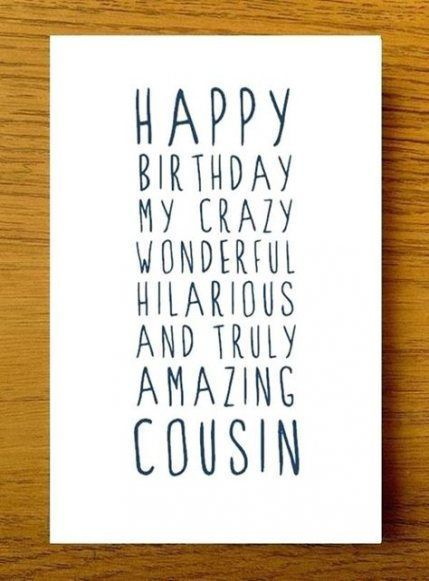 50 Ideas For Birthday Quotes For Cousin Birthday Cousin