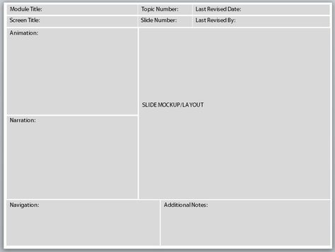 Free Storyboard Templates for e-Learning alto TalentedHR - website storyboard