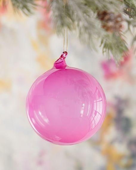 Jim Marvin 100mm Bubble Gum Glass Ball Ornament in 2020 | Glass