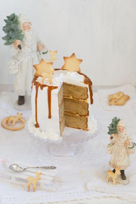 Eierlikor Torte Mit Gebraunter Butter Safran Karamell Tropfkuchen Baby Kuchen Kuchen Ideen