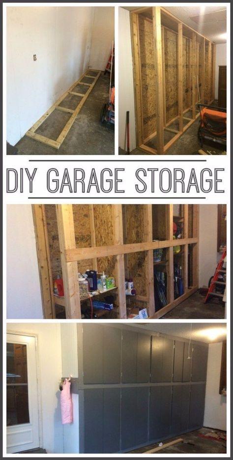 36 Diy Ideas To Organize The Garage Renovation De Garage Garage De Bricolage Rangement Maison