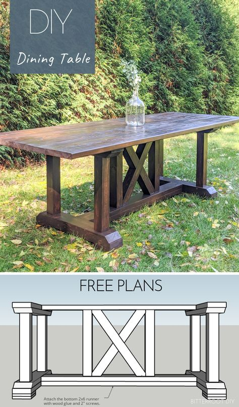 DIY Dining Table build this dining room table inspired by Restoration Hardware Free plans from Bitterroot DIY