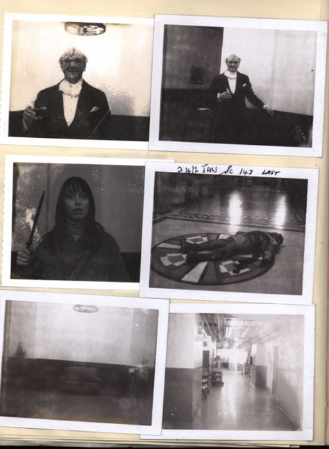 Polaroids shot by Continuity SupervisorJune Randallduring production ofThe Shining, including images of actors Norman Gay, Shelley Duvall, and Scatman Crothers.These black-and-white photos were shot throughout filming to notate positions of props, set dressing, and states of costumes.