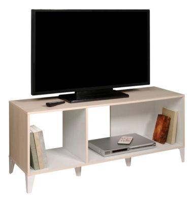 Meuble Tv Keo Acacia Blanc But En 2020 Meuble Tv Rangement Petit Meuble Tv Meuble Tv