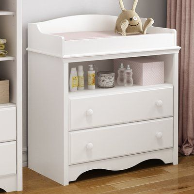 Creations Baby Summers Evening Combo Dresser In Rubbed White Traditional Changing Tables By Hayneedle Mebel Desain Putih