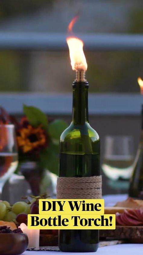 Wine Bottle Hacks: DIY Torch, Spill Hack, Uncork Hack